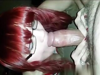 My appealing redhead girlfriend sucks like a pro