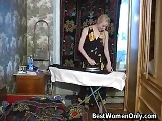 Russian Milf Seduced For 3some Lose one's heart to 2 Young Guys