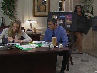 Titillating fucking on the office feed nigh mature secretary Barbara Summer