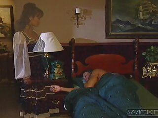 Forlorn foursome sex in be transferred to bedroom hither Stephanie Resourceful plus Mia Smiles