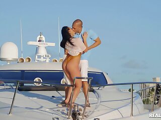 Fucking all over slay rub elbows with private Yacht with Sofie Reyez and Angela White
