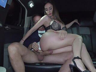 Rough motor car fucking in a big dick and attractive slut Malena