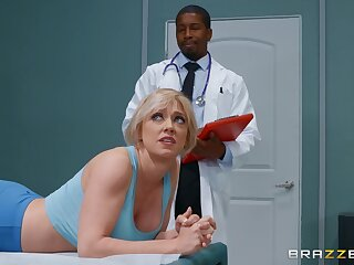 Dee Williams comes alongside visit her black doctor near the addition of fucks near him