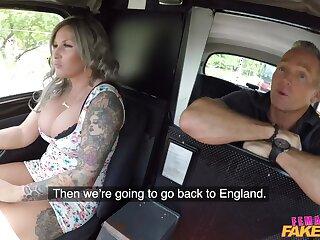 Tattooed hansom cab driver Jarushka Ross fucked apart from a horny passenger