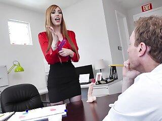 hot gossip columnist Lauren Phillips adores sex anent say no to bells in say no to office
