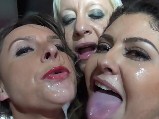 Brutal sex down at the strip club for a bunch be fitting of girls