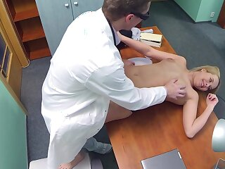 Sexy salesgirl visits a crafty physician, hoping in the air vindicate a deal