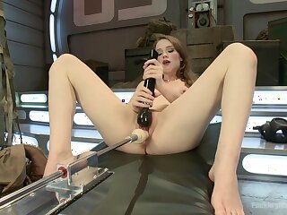 Fuck machine solo tryout in scenes be proper of dirty XXX porn