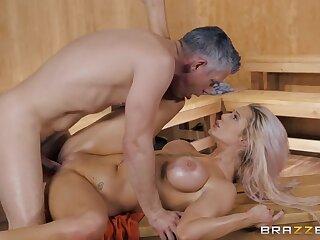 Luna Skye surrounding insane sex scenes nearly up ahead sauna