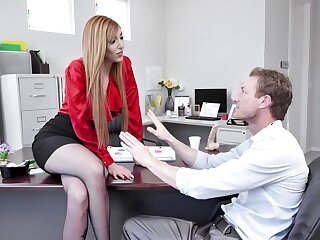 Redhead wants the new man far show her his magic tricks