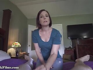 Stepmom jerking off stepsons horseshit