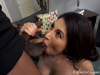 MILF on fire rides the life out of this tasty BBC