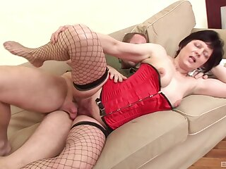 Horny older lady Eva scores the best sex she has had in years
