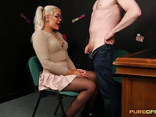 Beautiful Gina Varney is a girl who never says no when giving head