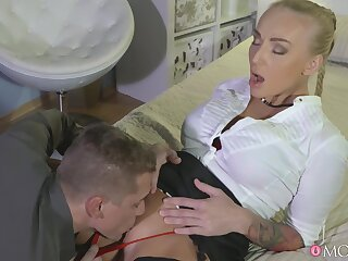 MILF receives the proper care before putting some dick in her tight holes