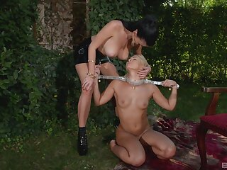 Amazing outdoor Lezdom session with sexy Terra and Lucy Li