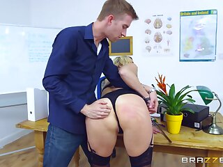 Young lover gets rough when making MILF Brittany Bardot his bitch