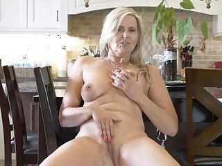 Naughty matured Velvet Skye drops her panties and masturbates