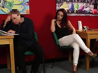 First time she provides blowjob and sex when clothed