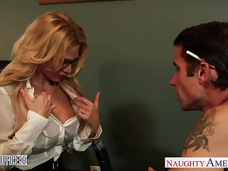 Milf boss Sarah Jessie is fucked by team a few her workers right projected
