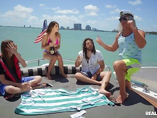 Super-best boat sex ensemble with seaman & semen