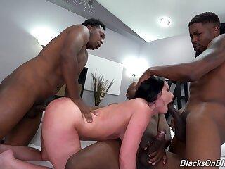 Hung black plumbers gangbang sexy resident Jennifer White
