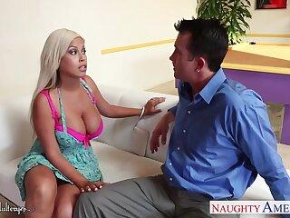 Big tittied milf Bridgette B sucks a dick yon get an intrepidity policy